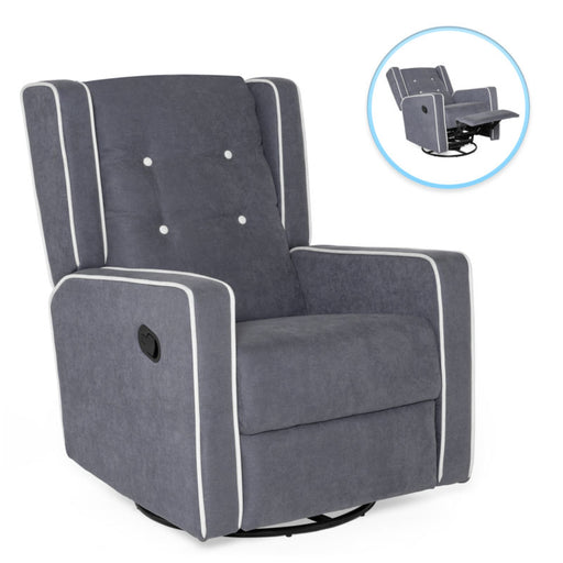 Modern Upholstered Swivel Recliner Lounge Rocking Chair