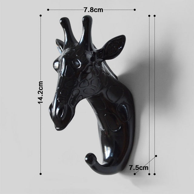3D Vintage Animal Head Crafts Robe Hat Hooks Wall Decoration