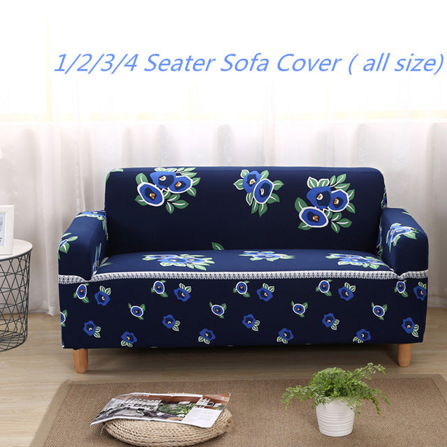 Floral Pattern Universal Elastic Stretch Sofa Covers Sectional Throw Couch Corner Cover Cases