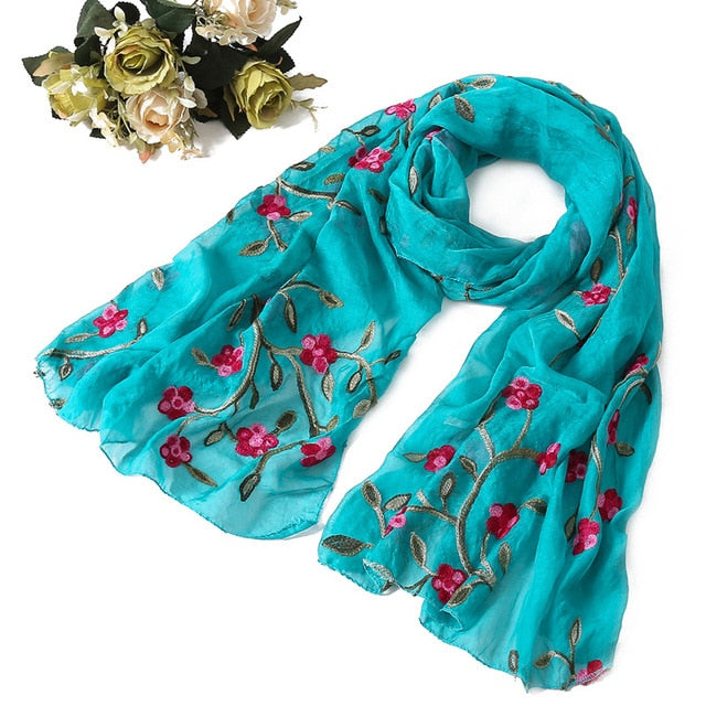 Hot Fashion silk scarves shawls and wraps  - Multiple Colors - Toyzor.com