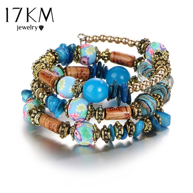Vintage Boho Multi-layer Beads Charm Bracelets