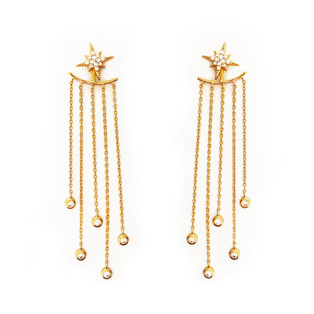 Stylish Gold/ Silver Crystal Earrings