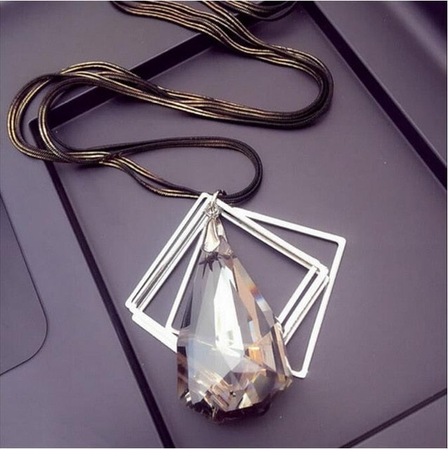 Long Crystal Necklace - Multiple Designs