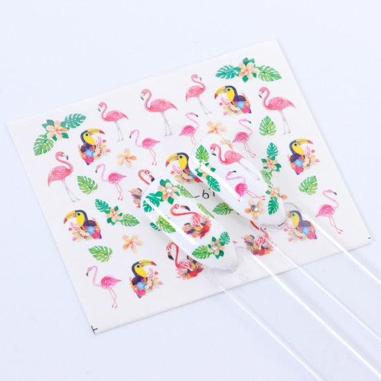 1 PC Colorful Summer Nail Water Sticker - Toyzor.com