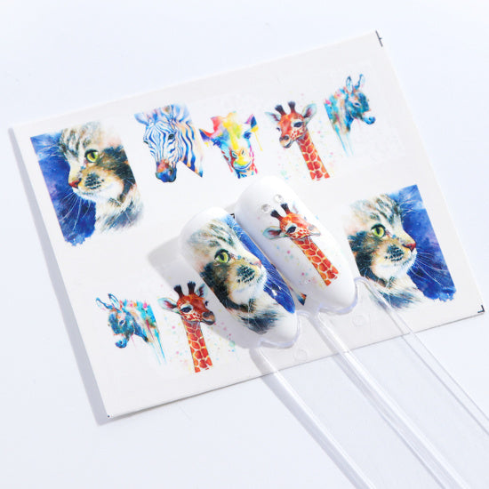 1PC Colorful Lovely Cartoon Image Nail Art Sticker - Toyzor.com