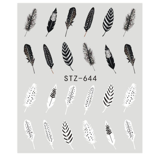 1 PC  Linear Flower Pattern Nail Art Designs - Toyzor.com