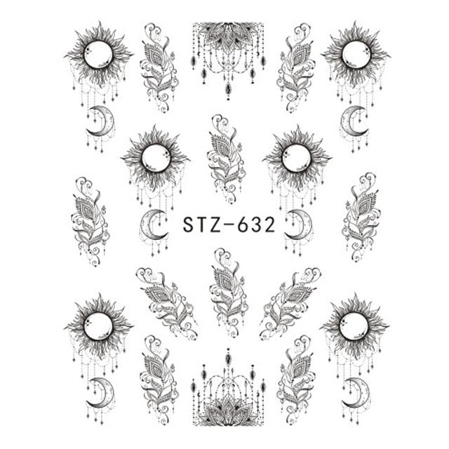 1 PC Nail Sticker Flower Nail Water Decal  Manicure - Toyzor.com