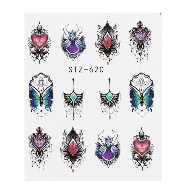1 PC Black Cartoon Animal Hollow Designs Sliders For Nail Decals - Toyzor.com