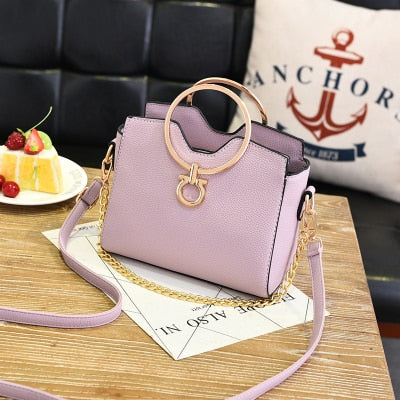 Casual Metal Handle Handbag - Toyzor.com