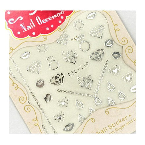 1 PC 3D  Embossed Flowers Nail Art Decal Stickers - Toyzor.com