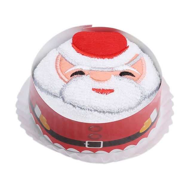 2019 Creative Cake Towel Washcloth Dishcloth Christmas Gift