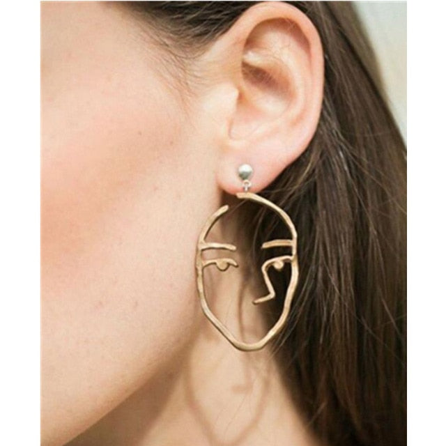 Abstract Art Drop Earrings - Toyzor.com