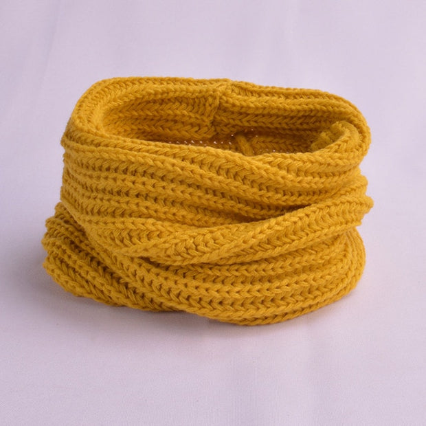 Knitted Soft Wool Collar Scarf