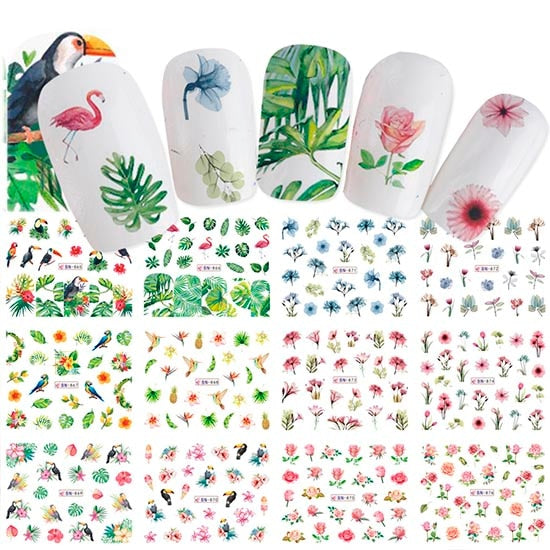 12 PC Mixed Nail Art Designs - Toyzor.com