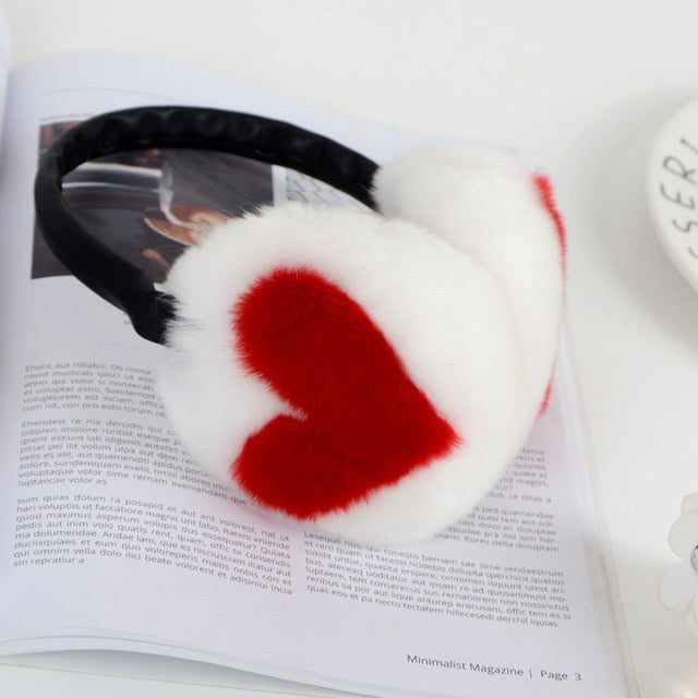Cute Heart Earmuffs