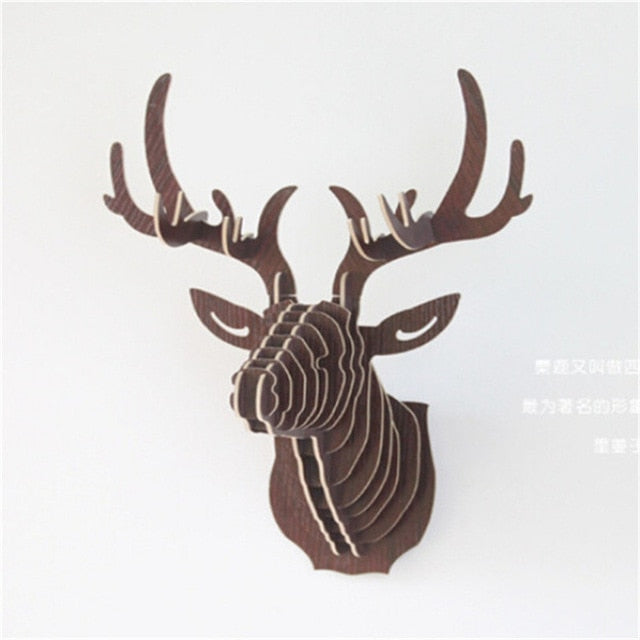 3D Puzzle Wooden Wall Hanging Deer Head