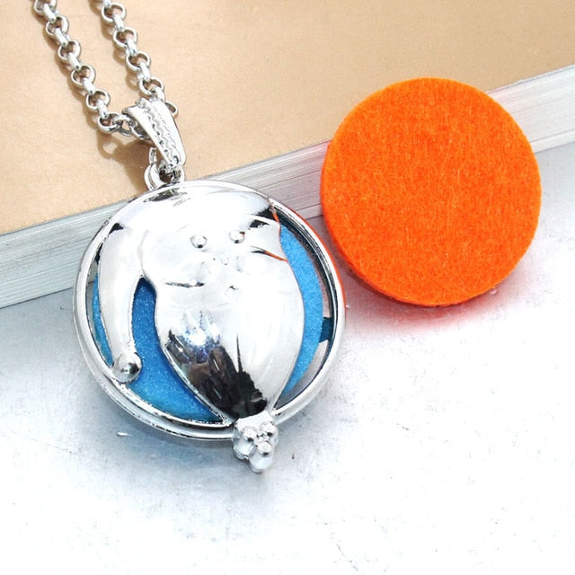 Diffuser Essential Oil Aromatherapy Locket Necklace