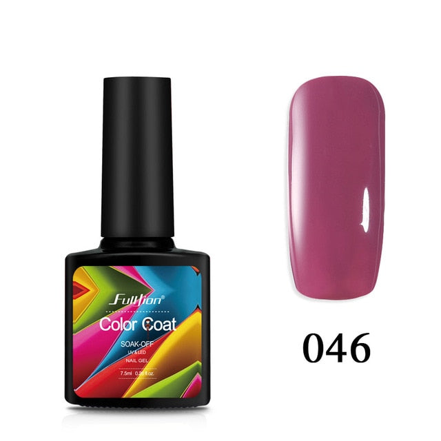 1pcs Color Coat Nail Polish Gel Varnish - Toyzor.com