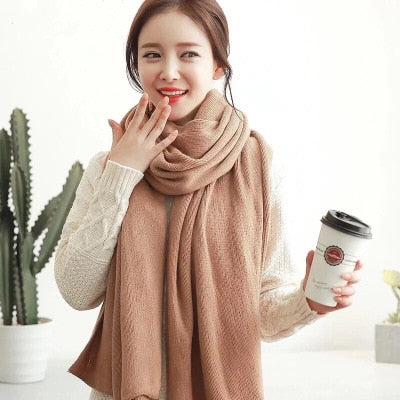 Long Cashmere Scarf for Women