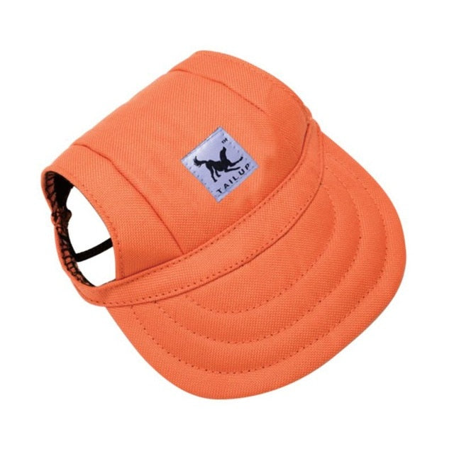 Dog Summer Baseball Cap With Ear Holes