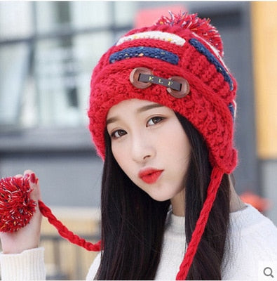 Winter Knitted Cotton Hats For Women