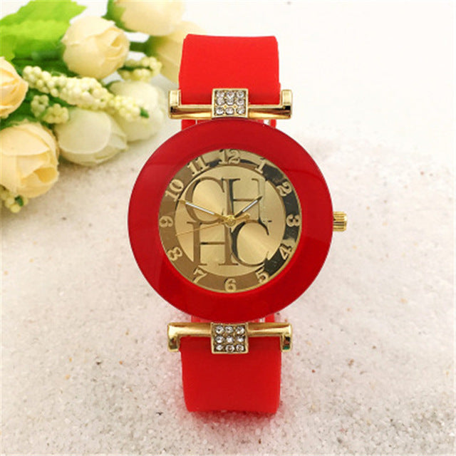 Crystal Silicone Watch