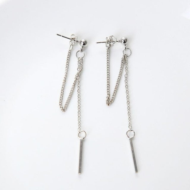 Long Chain Metal  Earrings