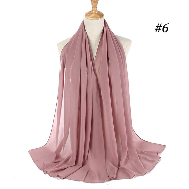 Plain Bubble Chiffon Women's Scarf