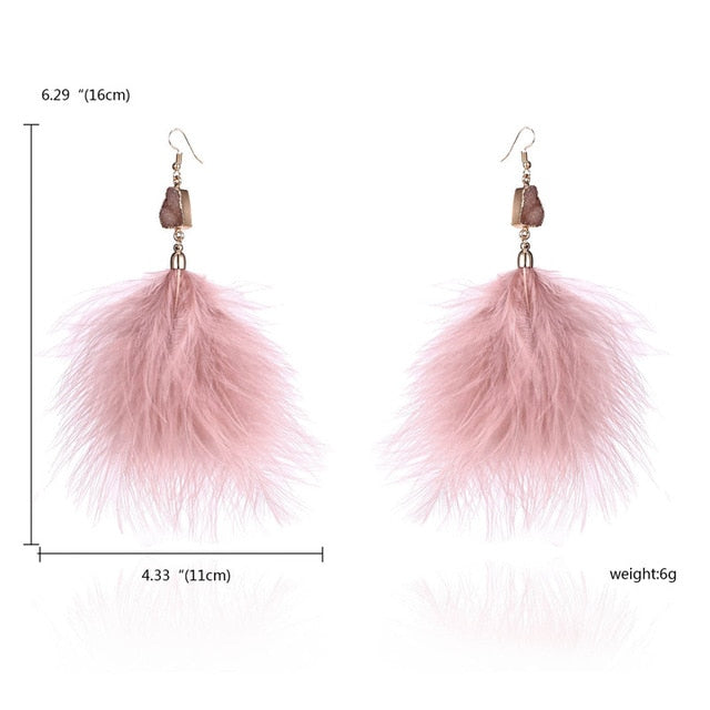 Owl Leaf feather Earring