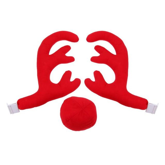 Christmas Antlers Car Truck Costume Antlers Red Nose Christmas Set