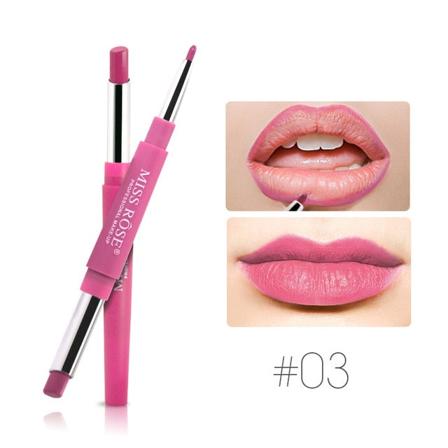 2 Colors Waterproof Moisturizing Lip Liner Matte Lip Pencil - Toyzor.com
