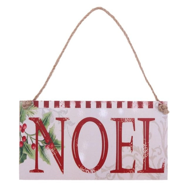 Letter Board Wooden Christmas Decoration for Home DIY Holiday Party Decor