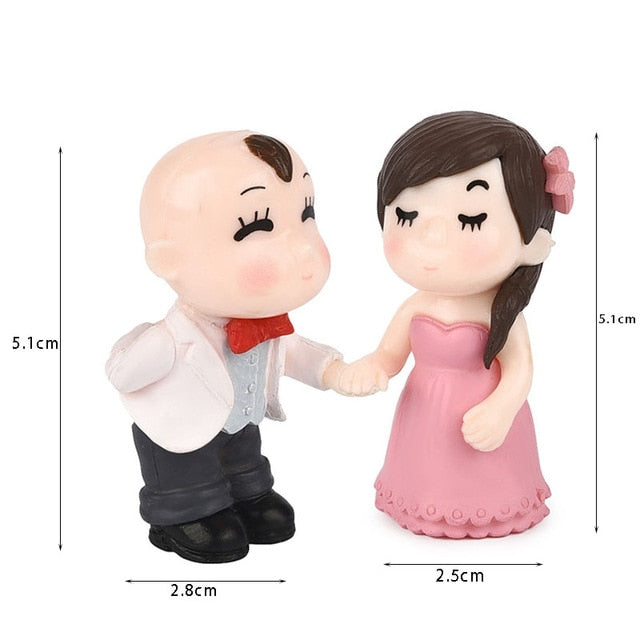 1 Pair Sweet Lover Couple Marry Wedding Home Garden Decoration Ornaments