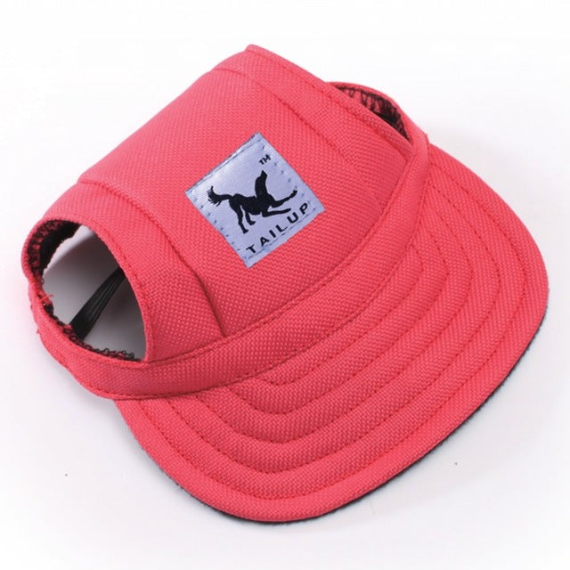 Dog Hat With Ear Hole Summer Baseball Cap for Small Pet