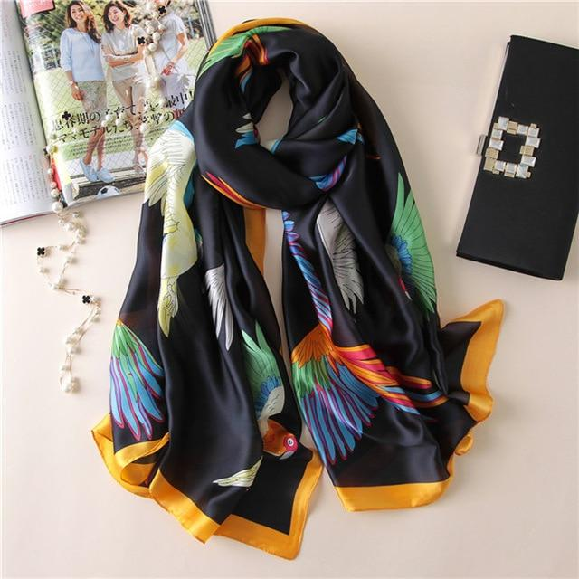 Luxurious Women's Floral Silk Scarf15