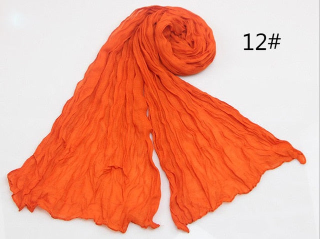 Women's Cotton & Flax Summer Scarf - Toyzor.com