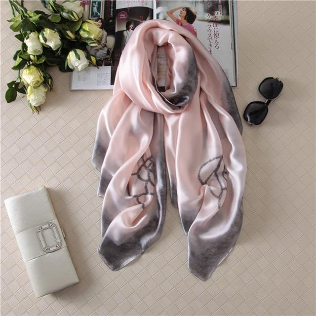 Luxurious Women's Floral Silk Scarf20