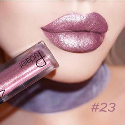 24 Long-lasting Waterproof Hot Color Glittering Liquid Lipstick - Toyzor.com
