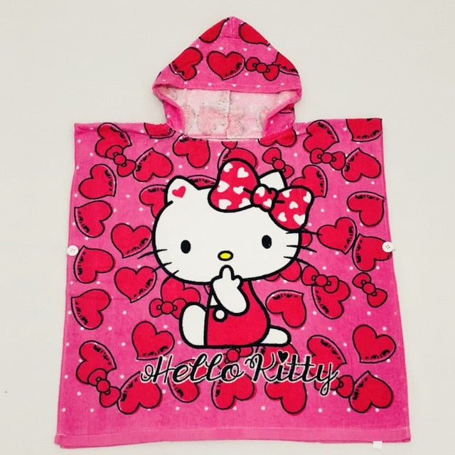 15 Styles Cat Duck Bear Hooded Animal Bathrobe