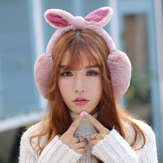 Rabbit Fur Winter Earmuffs