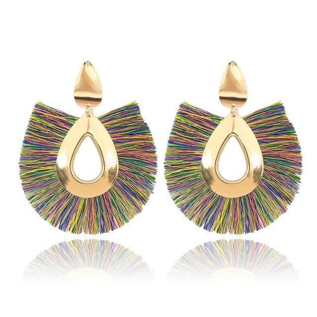 Bohemian Fringe Drop Earrings - Toyzor.com