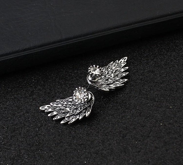 Gothic Angel Wing Earrings