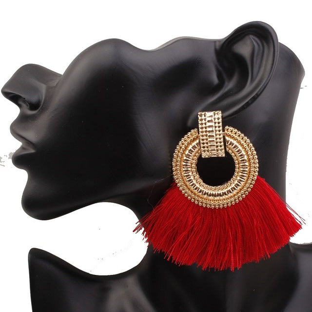 Boho Tassel Drop Earrings - Toyzor.com