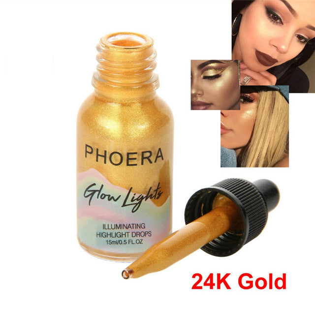 Beauty Liquid Highlighter Cream Concealer Shimmer Face Glow Ultra-concentrated illuminating bronze Make Up
