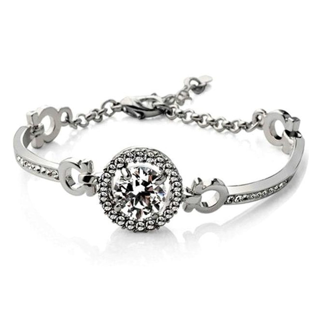 Crystal Cuff Charm Silver Gold Color Women Jewelry - A4
