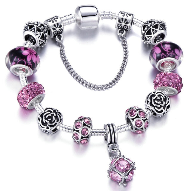 Authentic Silver Plated 925 Crown Beads Pandora Bracelet - Toyzor.com