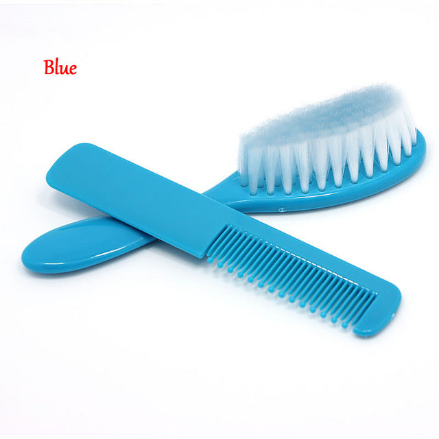 Baby Boy Girl Kids Gentle Soft Hair Brush Comb Set - 2pcs - Toyzor.com