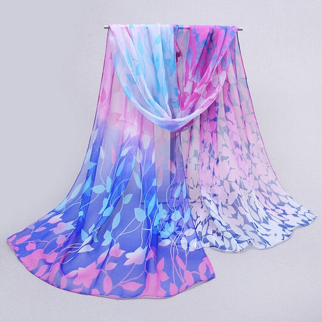 Flower Rose Printed Scarf