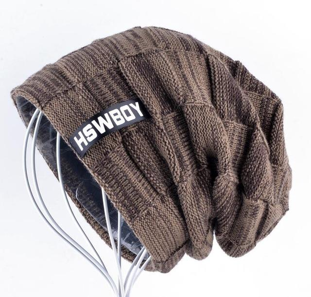 Knitted Plaid Autumn And Winter Bonnets For Men and Women - Bown