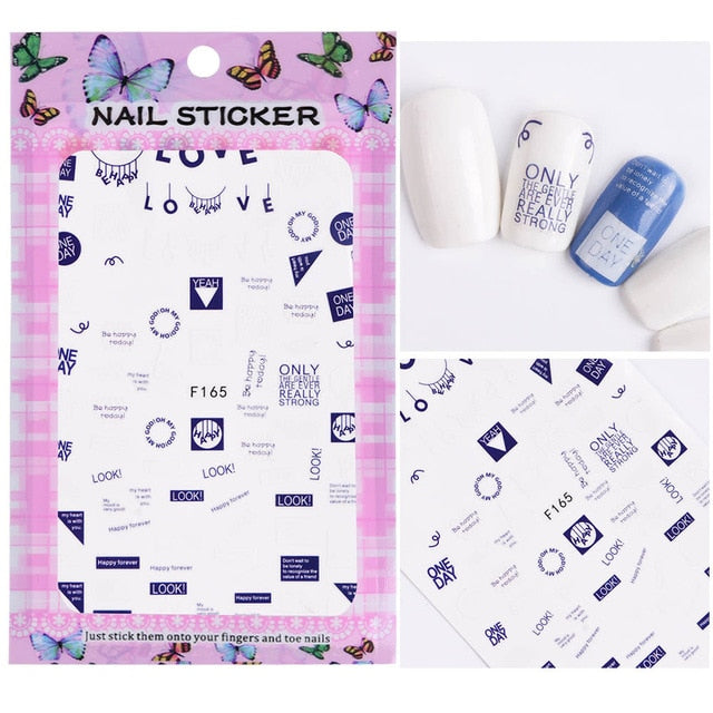3D Nail Stickers Blooming Flower - Toyzor.com